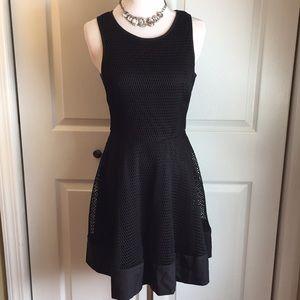Black fishnet dress